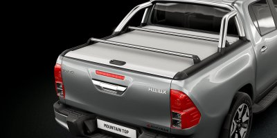 Mountain Top Roll Cover, Cargo Carrier and Sports Bar for Toyota Hilux